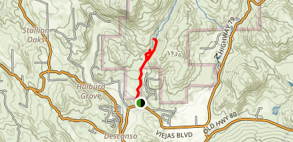 Dead Horse Falls Trail Map