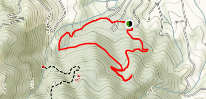 Villa Montalvo Lookout Point, South Orchard, Creek Trail Loop Map