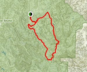 Tie Down Peak Loop Map