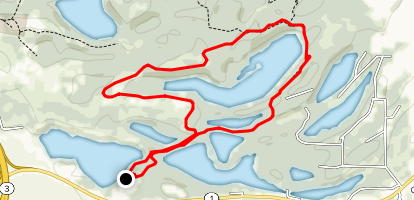 Long Lake Loop  Map