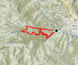 The Incline Trail and the Barr Trail Map