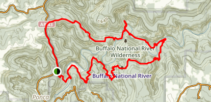 Ponca Wilderness and Buffalo National River Loop Map