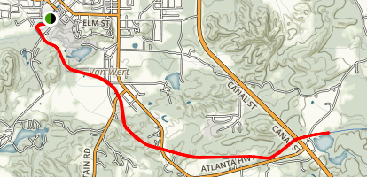 Silver Comet Trail: Rockmart to Lower Coots Lake Map
