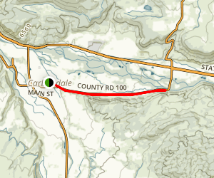 Rio Grande Trail: Carbondale to Mulford Map