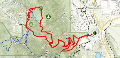 Grubstake Loop Map