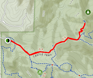 Walker's Dream via Castle Trail Map