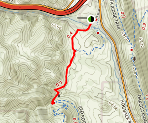 Village Walk and Red Rocks Day Hike Map