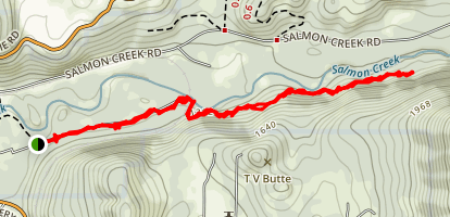 Salmon Creek Trail South Map