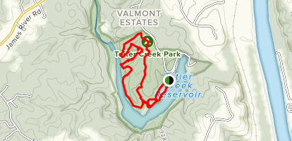 Totier Creek Reservoir Park Loop Map