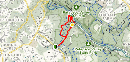 Cascade Falls Loop Trail  Map