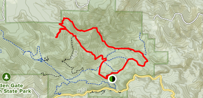 Mountain Lion Trail to Burro Trail Loop Map