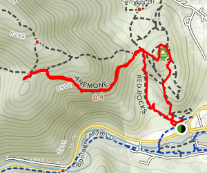 Red Rocks and Anemone Loop Map