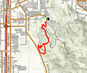 Kawana to Petaluma Hill Loop Map