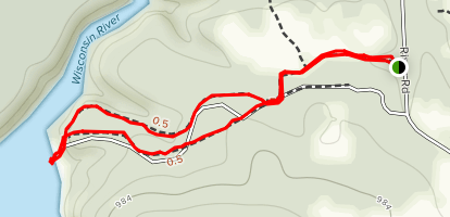 Chapel Gorge Trail Map