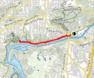 Roswell Riverwalk Trail to Willeo Road Map