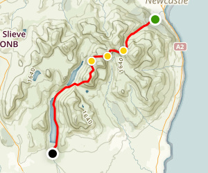 Newcastle Glen River to Silent Valley Map