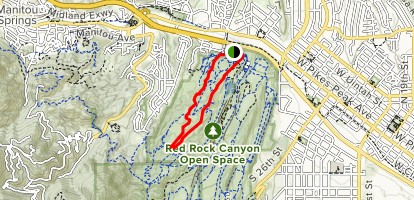 Contemplative Trail, Roundup Trail, Mesa Trail Loop Map