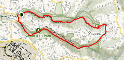 East Avenue and Ward Creek Trail Loop Map