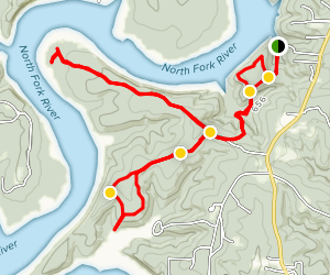 David's Trail, Mallard Ridge Spur, Piney Point and Bald Knob Loop Trail Map