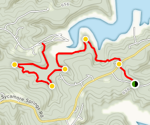 Norfork Trail: Georges Cove to Tracy Park Map