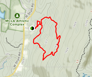 Hoosic Range Wild Onion Loop Map