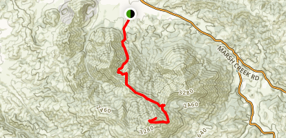 Back Creek Trail and Bald Ridge Trail to Mount Diablo Summit Map