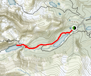 Lake Isabelle Trail [ROAD CLOSED] Map