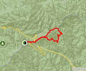 Charles Bunion loop via Appalachian Trail and Sweat Heifer Creek Trail  Map