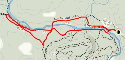 Adventure Trail and Cascades Access Trail Map