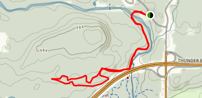 Yellow Trail to Upper and Lower 2k Trails Map