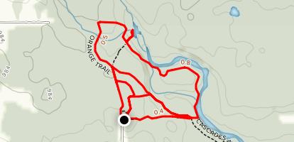 Balsam Street to Orange, Red, Green and Yellow Trails Map