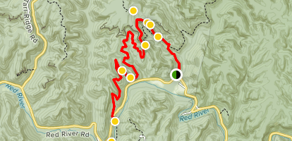 Bison Way to Indian Staircase to Sheltowee Trace Trail Map