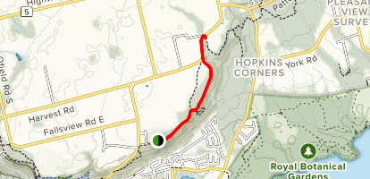 Borer's Falls Trail Map