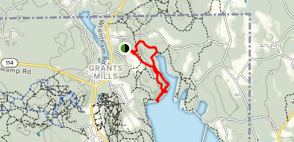 Werner Trail to Diamond Hill Reservoir Map