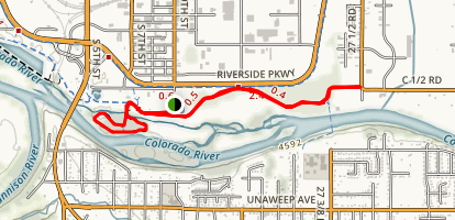 Riverside Trail and Watson Island Trail Loop Map