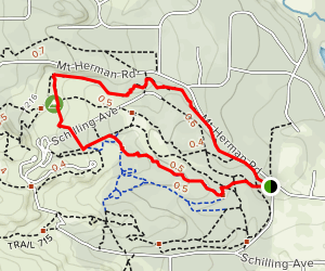 Monument Rock Extended Loop Map