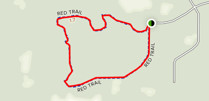 Grant Flatwoods Sanctuary Red Trail Map