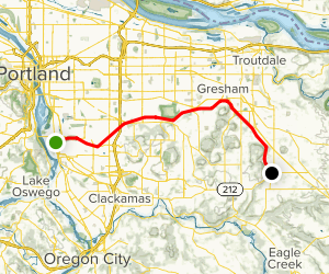 Springwater Corridor: Sellwood to Boring Map