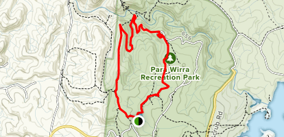 Devils Nose Track and Quarry Track Loop Map