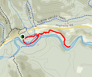 Elbow Falls and Ridge  Map
