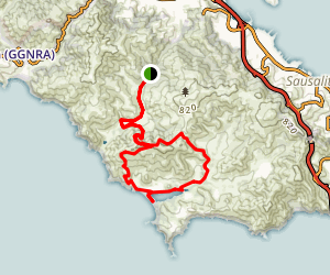 Tennessee Valley to Rodeo Beach Map