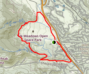 Painter's Pause, Meadow View and Pioneer Trail Loop Map
