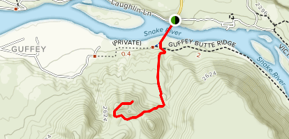 Guffey Butte Trail Map