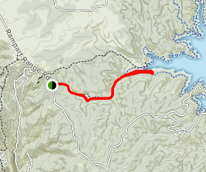 Rampart Reservoir via Rainbow Gulch Trail Map