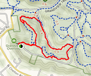 Cheyenne and Grandview Trail Loop Map