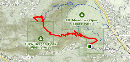 Meadow View and Bergen Peak Trails Map