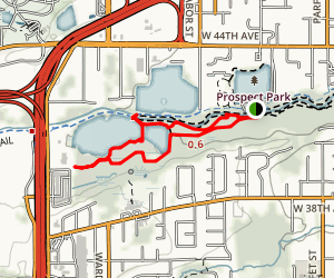 Tabor/West/Bass Lakes Map