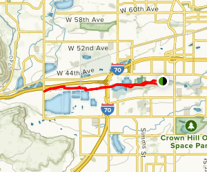 Clear Creek Trail and Prospect Lake Loop Map