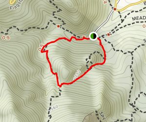 Amphitheater and Saddle Rock Loop Map