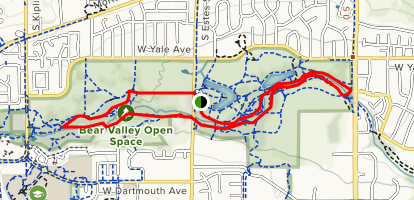 Bear Creek Trail to Stone House Trail Loop Map